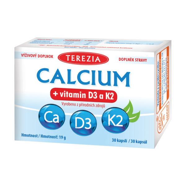 CALCIUM + VITAMIN D3 A K2 30 KAPSLÍ 1