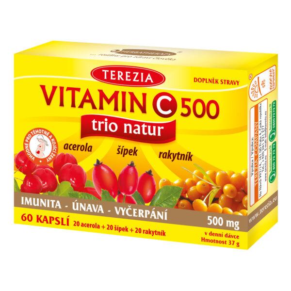 VITAMIN C TRIO NATUR 60 KAPSLÍ 1