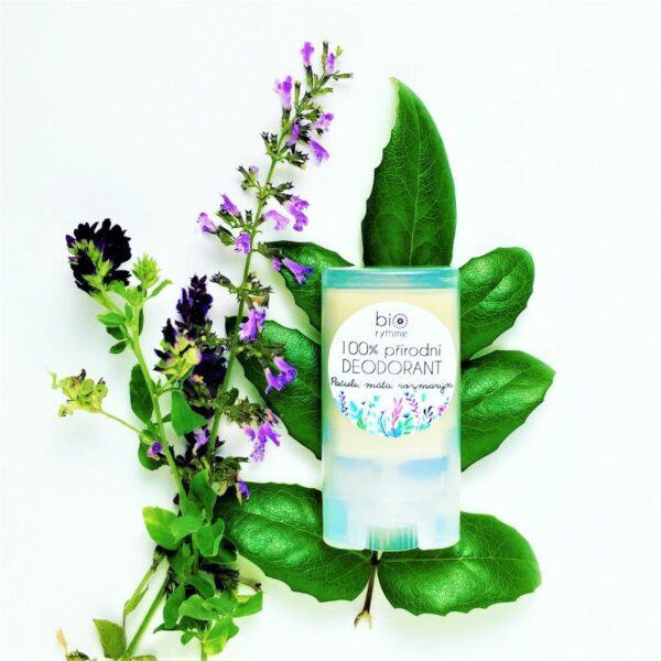 100% přírodní deodorant Pačuli, máta, rozmarýn (malý) 2
