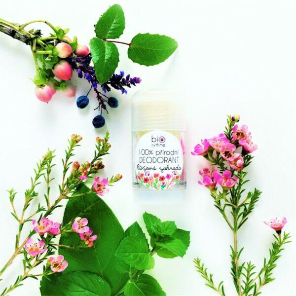 100% přírodní deodorant Růžová zahrada (velký) 2