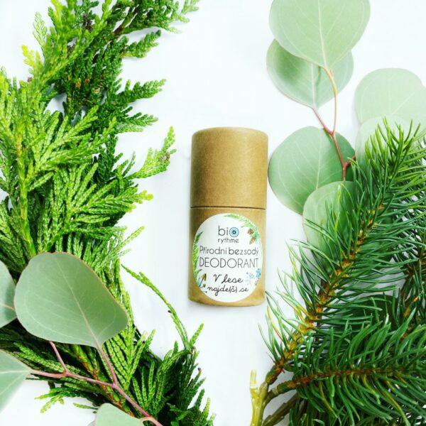 Papírový obal: BEZSODÝ deodorant V lese najde(š) se 30g 2