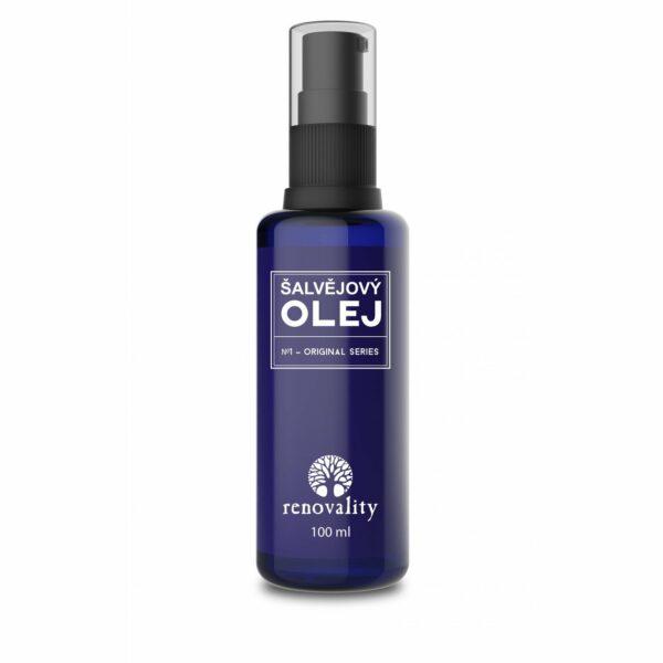 Šalvějový olej 100 ml s pipetkou 1