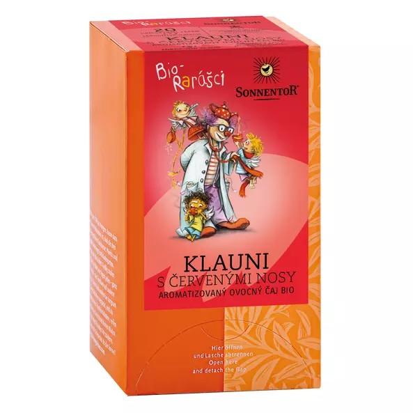 Klauni s červenými nosy aromatizovaný ovocný čaj bio 40g 1