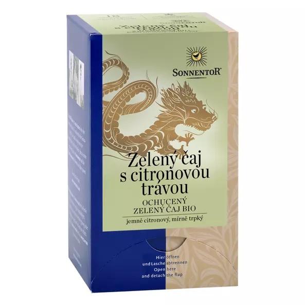 Zelený čaj s citronovou trávou ochucený zelený čaj bio (obsahuje kofein) 21,6g 1