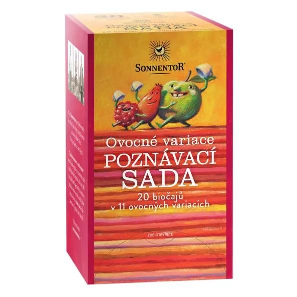 Ovocné variace - poznávací sada 20 čajů bio v 11 ovocných variacích 47,6g 1